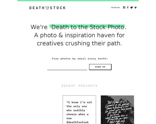 Home - Death to the Stock Photo
